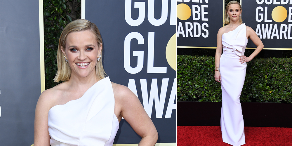 reese witherspoon white dress golden globes