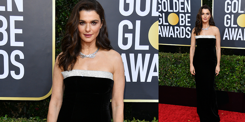 Rachel Weisz black gown golden globes