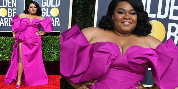 Da'vine Joy Randolph purple dress golden globes