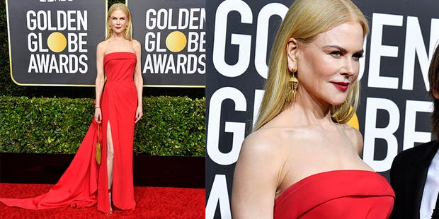 Nicole Kidman red dress golden globes