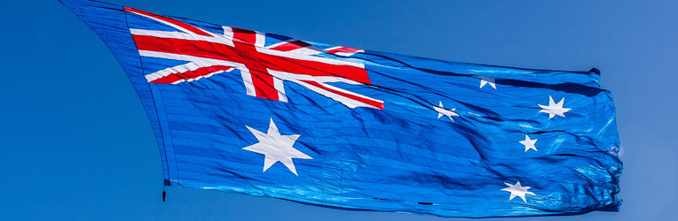 The Australian Flag Flown for the First Time