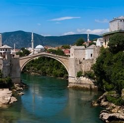 Famous Stari Most Bridge Collapses in Bosnia