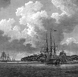 First Fleet sets up first European colony in Sydney