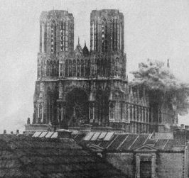 Western Front Action – Germans Bombard Reims Cathedral