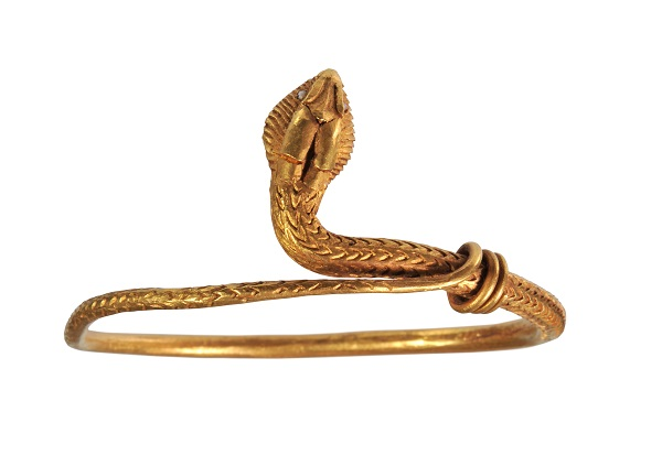 Bracelet, in the form of a snake, from Pompeii, gold, 1st century AD.
