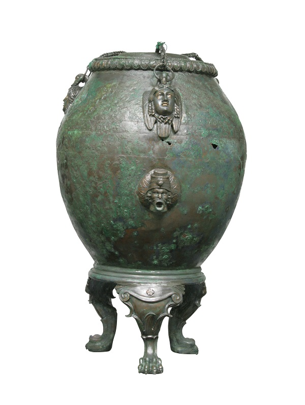 Vessel for keeping drinks warm from Pompeii, bronze, 1st century AD.