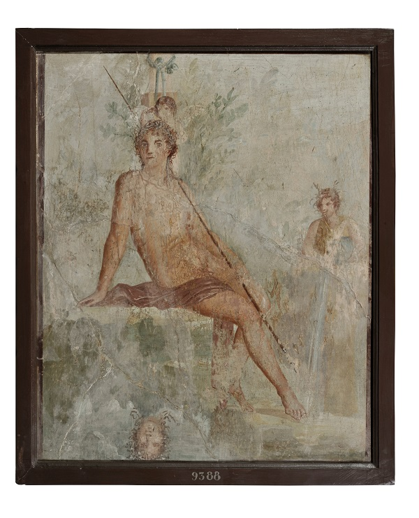 Fresco of Narcissus from Pompeii, 1st century AD.