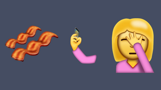 Bacon, selfie and facepalm emojis may be here soon | [V] on