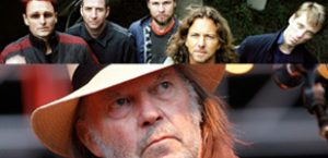 Neil Young rocks out with Pearl Jam
