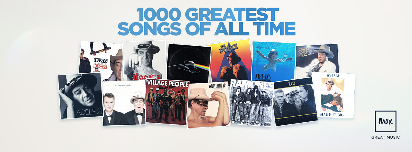 1000 Greatest Songs Of All Time The 2018 Results | MaxTV on