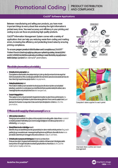 CoLOS Promotional Coding Brochure