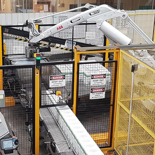 New Robomatrix Palletiser at De Bortoli