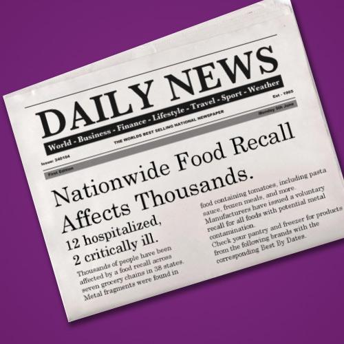 Food Recall headlines