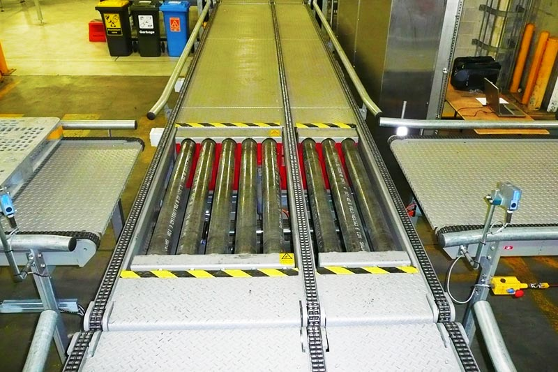 Foomach Pallet Conveyors With 90-degree Transfer