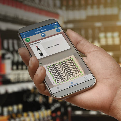 Using a smart phone to scan barcodes for full traceability