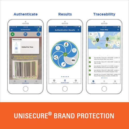 Authenticate and trace your products using the existing barcode