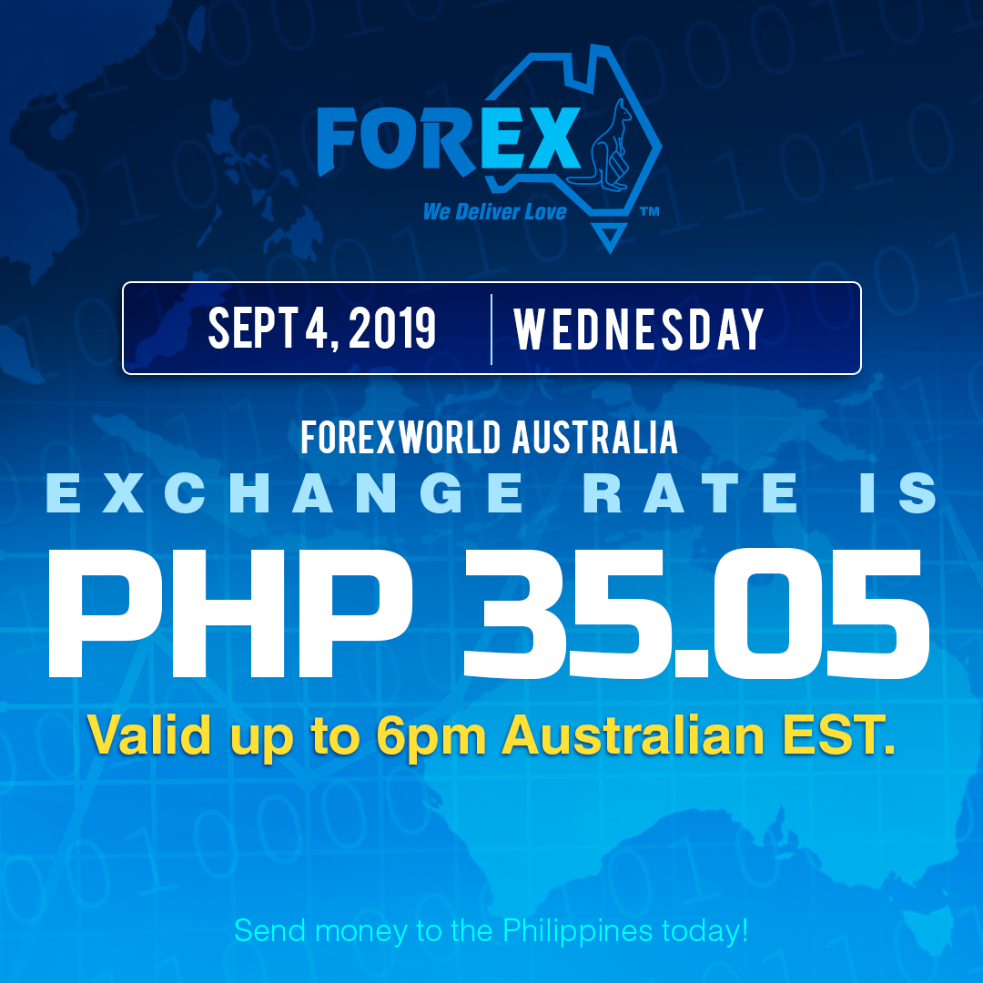 send money to the philippines, forexworld, australia philippines exchange rate september 4, 2019