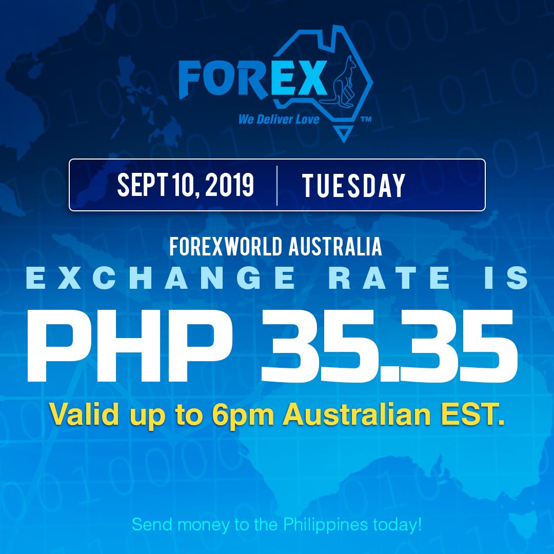 forex world australia exchange rate September 10 2019