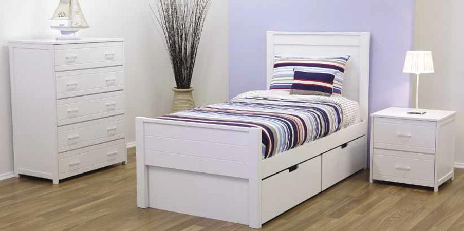 Cologne Single Bed With Drawer