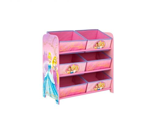 Disney Princess 6 Bin Storage Case