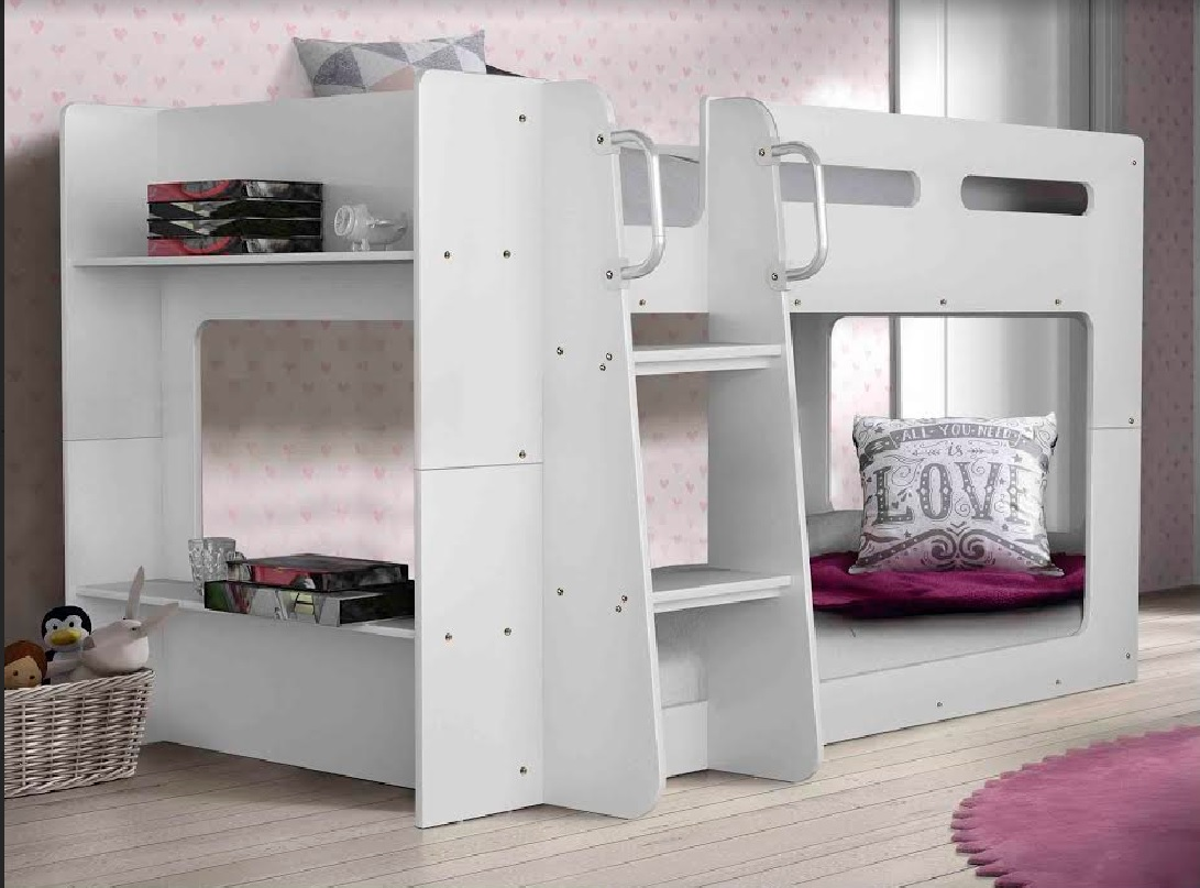 Hudson Low Line Single Bunk Bed with Side Shelf
