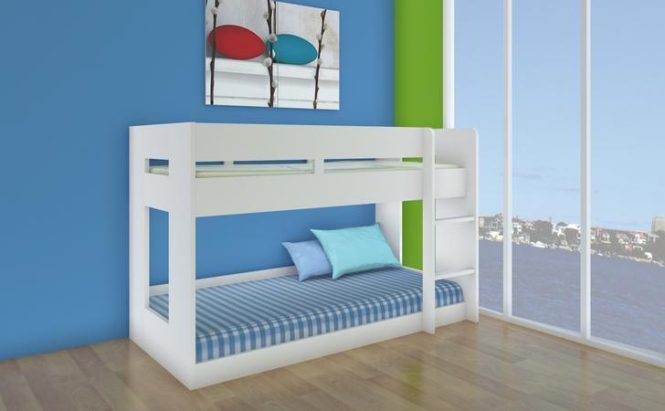 Lego Bunk Bed - Single (White)