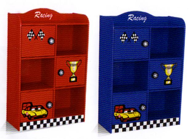Racing Cube Bookcase (Blue or Red)