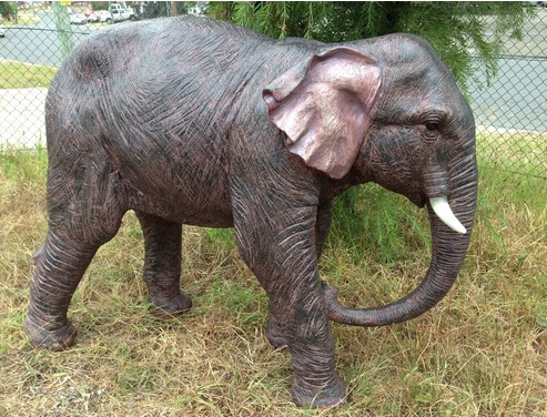 125cm Walking Elephant - Fiberglass Animal