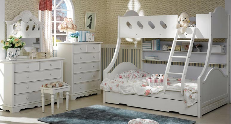 Cloudy Bunk Bed & Trundle