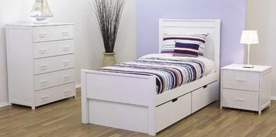 Cologne Bed with Drawer Unit (King-single)