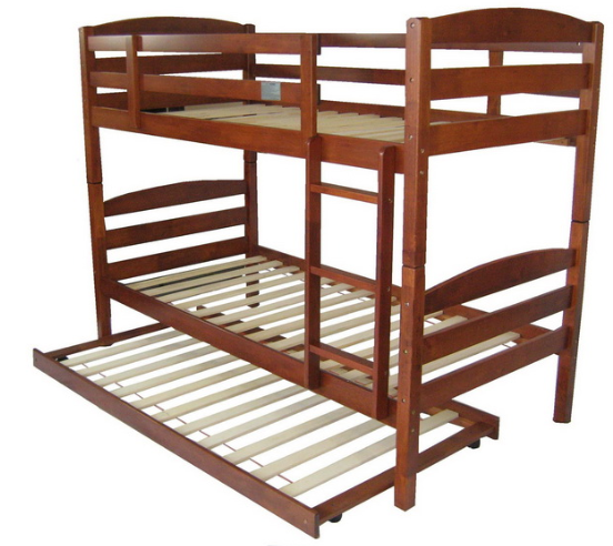 Cosmos Bunk with Trundle$820 - Single white& (Dirty Oak)