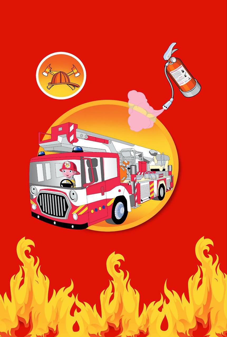Fire Engine bed cover with 1 Pillow case