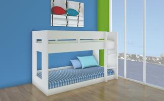 Lego Bunk Bed - Single (White)