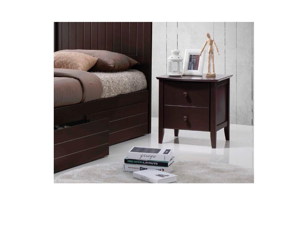 Quincy Arizona Bedside Table - Chocolate