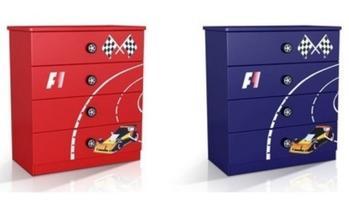 Racer Chest of Drawers (Red or Blue)