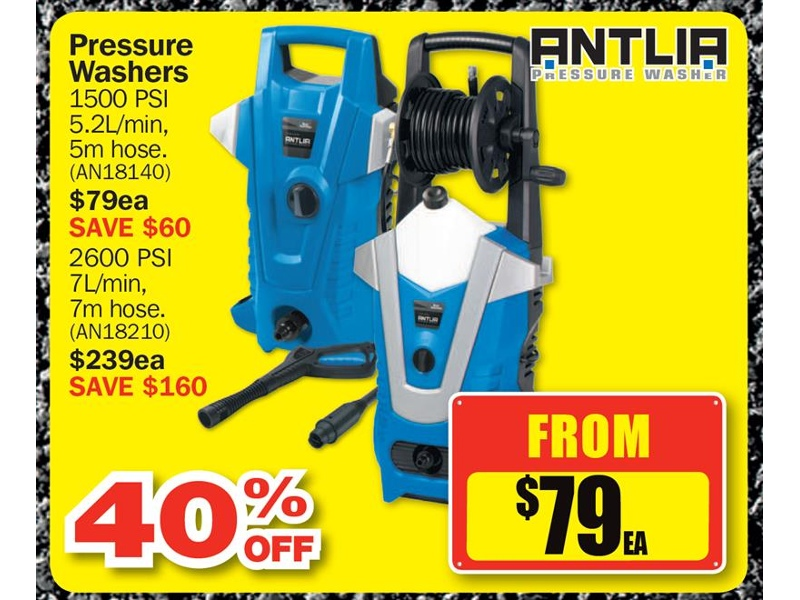 $79  Antlia Pressure Washers