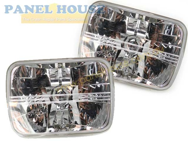 Holden Rodeo 97-02 7x5 Pair of Crystal Clear Beam Headlights New