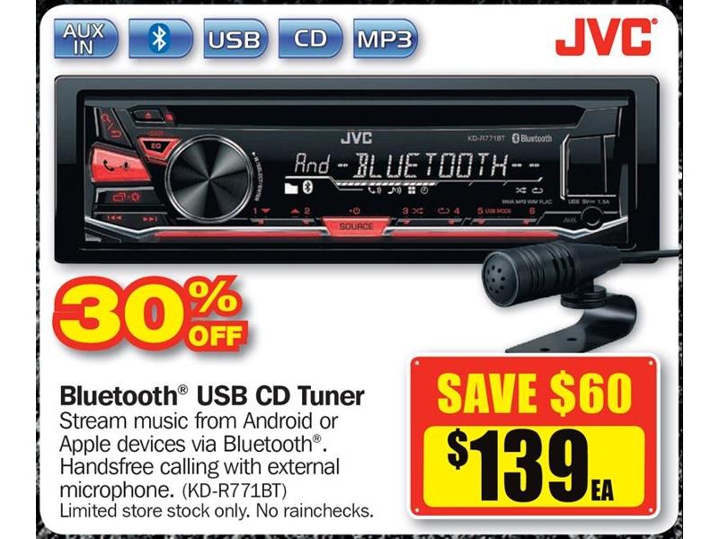 JVC Bluetooth USB CD Tuner