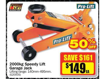 $149 Pro-Lift 2000kg Speedy Lift Garage Jack