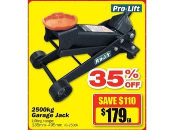 $179 ea Pro-Lift 2500kg Garage Jack