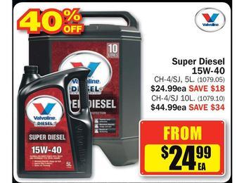 $24.99 Valvoline Super Diesel 15W-40