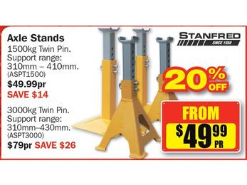$49.99 Stanfred Axle Stands