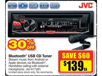JVC Bluetooth USB CD Tuner