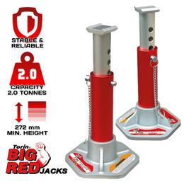 Torin T43004L Big Red Jack Stands Aluminium 2 Tonne $79.00
