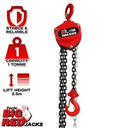 Torin TR90101 Big Red Chain Block 2.5m Chain 1000kg