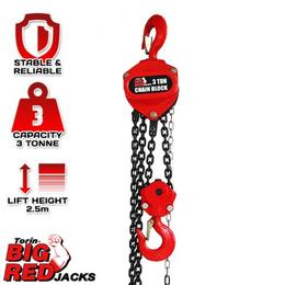 Torin TR90301 Big Red Chain Block 3m Chain 3000kg $219.00
