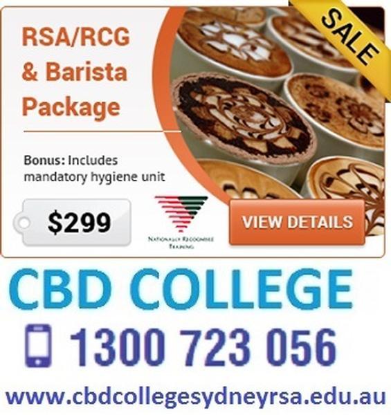 CBD College RSA RCG Barista
