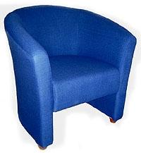 Blue Tub Chair 2