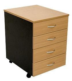 4 Drawer Pedestal