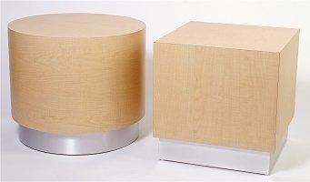 Drum And Square Coffee Tables